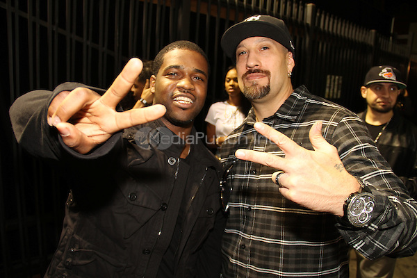 LOS ANGELES, CA - JANUARY 24: B-Real, A$AP Ferg backstage at the Beats Music Official Launch Party from Beats by Dr. Dre at Belasco Theatre on January 24, 2014 in Los Angeles, California. Credit: Walik Goshorn/MediaPunch