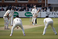 Graham Onions of Lancashire CCC bowls to Stephen Eskinazi of Middlesex CCC during Middlesex CCC vs Lancashire CCC, Specsavers County Championship Division 2 Cricket at Lord's Cricket Ground on 11th April 2019