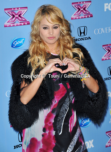 Paulina Rubio  at the Finalists Party of X Factor at the SLS Hotel in Los Angeles.