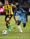 Manchester City striker Kelechi Iheanacho (r) during the match against Borussia Dortmund at the 2016 International Champions Cup China match at the Shenzhen Stadium on 28 July 2016 in Shenzhen, China. Photo by Victor Fraile / Power Sport Images