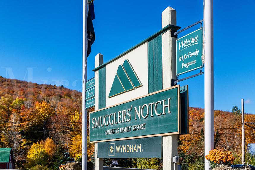 Smugglers' Notch Ski Resort, Jeffersonville, Vermont, USA.