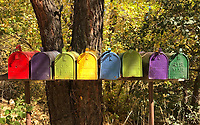 You've got mail! Colorful mailboxes