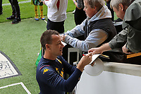 Assistant Head Coach John Terry signs an autograph before the game. Norwich City vs Aston Villa, Premier League Football at Carrow Road on 5th October 2019