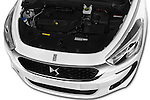 Car Stock 2016 Citroen DS5 Sport Chic 5 Door Hatchback Engine  high angle detail view