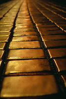 Abstract graphic of gold bricks..