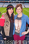 Siobhan Butler and Denise O'Brien (Kenmare) pictured at Croke Park on Sunday for the Kenmare vs Ballinasloe final.