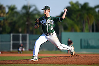 Plymouth State Panthers pitcher Connor MacRae (6) during the first game of a doubleheader against the Edgewood Eagles on March 17, 2015 at Terry Park in Fort Myers, Florida.  Edgewood defeated Plymouth State 12-3.  (Mike Janes/Four Seam Images)
