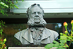 Bust of Norwegian playwright and poet Henrik Ibsen, Molde, Romsdal county, Norway