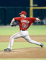 Jarrod Parker - Arizona Diamondbacks - 2010 Instructional League. Parker, recovering from a 2009 Tommy John surgery, pitches for the Diamondbacks against the Rockies in the annual Instructional League game held at Chase Field, Phoenix, AZ - 10/07/2010.Photo by:  Bill Mitchell/Four Seam Images..