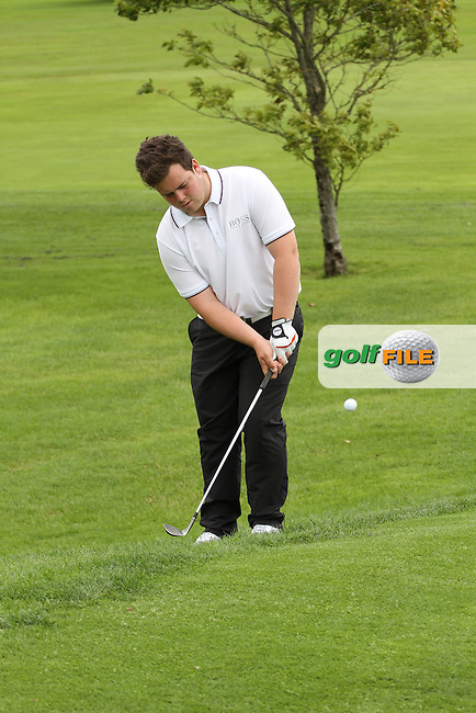 Michael McGurk (Warrenpoint) chipping on the 17th during the final round of the Munster Boys Open Championship, Mallow Golf Club, Mallow, Co. Cork<br /> Picture: Golffile | Niall O'Shea