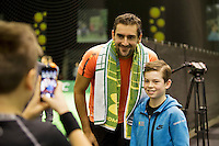Rotterdam, The Netherlands, Februari 8, 2016,  ABNAMROWTT, Sports Plaza, Marin Cilic (CRO)<br /> Photo: Tennisimages/Henk Koster