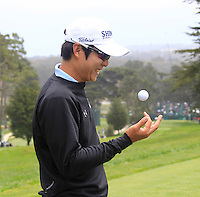 K.T.Kim (KOR) on the 9th tee during Wednesday's Practice Day of the 112th US Open Championship at The Olympic Club, San Francisco,  California, 13th June 2012 (Photo Eoin Clarke/www.golffile.ie)