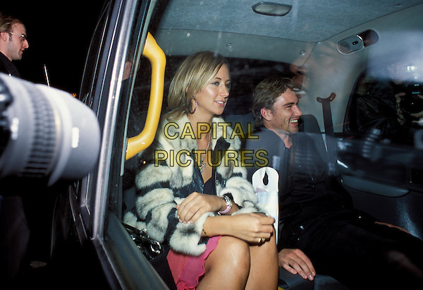 LADY VICTORIA HERVEY & NATHAN ROBERTS.The Banger Sisters film premiere & afterparty at Jewel.www.capitalpictures.com.sales@capitalpictures.com.©Capital Pictures.in car, cab