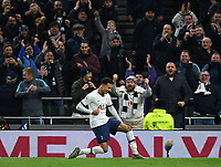 30th November 2019; Tottenham Hotspur Stadium, London, England; English Premier League Football, Tottenham Hotspur versus AFC Bournemouth; Dele Alli of Tottenham Hotspur celebrates scoring his second goal in 51st minute 2-0  - Strictly Editorial Use Only. No use with unauthorized audio, video, data, fixture lists, club/league logos or 'live' services. Online in-match use limited to 120 images, no video emulation. No use in betting, games or single club/league/player publications