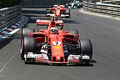 May 28th 2017, Monaco; F1 Grand Prix of Monaco Race Day;  Kimi Raikkonen - Scuderia Ferrari SF70H