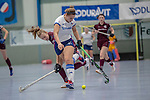 Mannheim, Germany, January 18: During the 1. Bundesliga women indoor hockey match between Mannheimer HC and Muenchner SC on January 18, 2020 at Irma-Roechling-Halle, Am Neckarkanal in Mannheim, Germany. Final score 3-3. (Photo by Dirk Markgraf / www.265-images.com) ***
