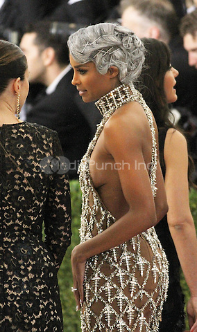 05 02 2016: Ciara  at Manus X Machina: Fashion In An Age of Technology at Metropolitan Museum of Art in New York. Credit:RWMediaPunch