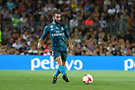 Carvajal in action during Supercopa de España game 1 between FC Barcelona against Real Madrid at Camp Nou