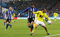 Blackburn Rovers' Craig Conway shields the ball from Sheffield Wednesday's Michael Hector<br /> <br /> Photographer David Shipman/CameraSport<br /> <br /> The EFL Sky Bet Championship - Sheffield Wednesday v Blackburn Rovers - Saturday 16th March 2019 - Hillsborough - Sheffield<br /> <br /> World Copyright &copy; 2019 CameraSport. All rights reserved. 43 Linden Ave. Countesthorpe. Leicester. England. LE8 5PG - Tel: +44 (0) 116 277 4147 - admin@camerasport.com - www.camerasport.com