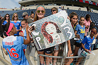Bridgeview, IL - Sunday June 04, 2017: Fans during a regular season National Women's Soccer League (NWSL) match between the Chicago Red Stars and the Seattle Reign FC at Toyota Park. The Red Stars won 1-0.