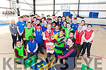 Rachel Godley a Transition Year student from Mercy Mounthawk pictured with Moyderwell primary school pupils Nico Misztal and Kate Kerins and pupils and students from Moyderwell and Mounthawk at the Fit4Class launch on Tuesday.