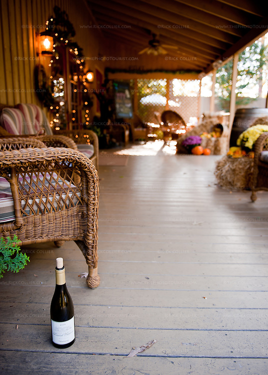 "On the front porch at Keswick Vineyards (during the fall ""Howl-o-ween"" benefit)."