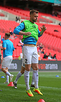 Lewis Montrose of AFC Flyde warming up during AFC Fylde vs Salford City, Vanarama National League Play-Off Final Football at Wembley Stadium on 11th May 2019