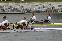 Seville. SPAIN, 17.02.2007, GBR M2X bow Matt WELLS and Stephen ROWBOTHAM,  winning Saturdays finals of the FISA Team Cup, held on the River Guadalquiver course. [Photo Peter Spurrier/Intersport Images]    [Mandatory Credit, Peter Spurier/ Intersport Images]. , Rowing Course: Rio Guadalquiver Rowing Course, Seville, SPAIN,