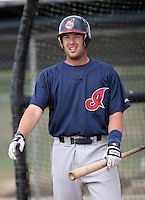 Cleveland Indians minor leaguer Pat Osborn during Spring Training at the Chain of Lakes Complex on March 16, 2007 in Winter Haven, Florida.  (Mike Janes/Four Seam Images)