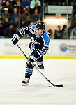 29 January 2010: University of Maine Black Bears' defenseman Will O'Neill, a Sophomore from Salem, MA, in first period action against the University of Vermont Catamounts at Gutterson Fieldhouse in Burlington, Vermont. The Black Bears defeated the Catamounts 6-3 in the first game of their America East weekend series. Mandatory Credit: Ed Wolfstein Photo