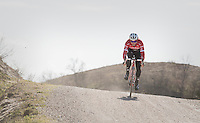 Fabio Felline (ITA/Trek-Segafredo) during the 2017 Strade Bianche recon (the day before the race)
