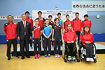 Japan team group (JPN), <br /> JULY 22, 2016 - Table Tennis : <br /> Japan national team press conference <br /> for Rio Olympic Games 2016 &amp; Paralympic Games <br /> at Ajinomoto National Training Center, Tokyo, Japan. <br /> (Photo by YUTAKA/AFLO SPORT)