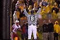 08 October 2009: Official signals a touch for Nebraska wide receiver Niles Paul second touchdown in row against Missouri at at Memorial Stadium, Columbia, Missouri. Nebraska defeated Missouri 27 to 12.