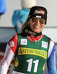 November 29, 2013 - Beaver Creek, Colorado, U.S. - Switzerland's, Lara Gut, celebrates her victory in the ladies downhill competition on Vail/Beaver Creek's new women's Raptor race course, Beaver Creek, Colorado.