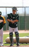 Kurt Suzuki - Oakland Athletics - 2009 spring training.Photo by:  Bill Mitchell/Four Seam Images