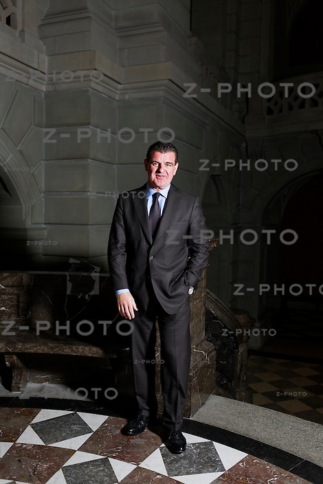 Interview und Portrait von Peter Spuhler / Nationalrat, Inhaber und CEO der Stadler Rail im Bundeshaus in Bern am 15. September 2011..Copyright © Zvonimir Pisonic