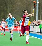 ALMERE - Hockey - Hoofdklasse competitie heren. ALMERE-HGC (0-1) . Stijn Jolie (Almere) met links Pelle Vos (HGC.  COPYRIGHT KOEN SUYK