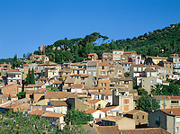 France, Provence, Bormes-les-Mimosas: View of Village | Frankreich, Provence, Bormes-les-Mimosas: Ortsuebersicht