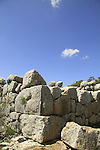 Israel, Metzad Abirim (Fortress of the Knights) in the Upper Galilee, remains of a fortified crusader farm