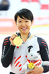 Yumi Kajihara (JPN), <br /> AUGUST 29, 2018 - Cycling - Track : <br /> Women's Omnium Medal ceremony <br /> at Jakarta International Velodrome <br /> during the 2018 Jakarta Palembang Asian Games <br /> in Jakarta, Indonesia. <br /> (Photo by Naoki Nishimura/AFLO SPORT)