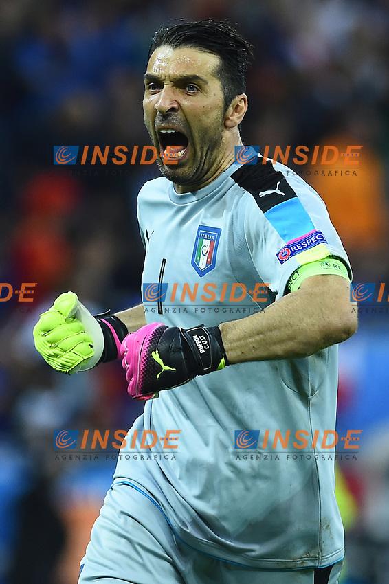 Gianluigi Buffon Italy <br /> Lyon 13-06-2016 Grand Stade de Lyon Football Euro2016 Belgium-Italy / Belgio-Italia Group Stage Group E. Foto Massimo Insabato / Insidefoto