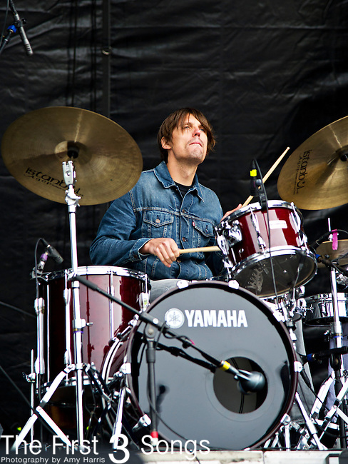 Dave Colvin of Heartless Bastards performs during the The Beale Street Music Festival in Memphis, Tennessee.