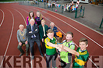 Launching the Kerry Community Games, Athletics Finals on 11th/12th of June,with opening ceremony at 10am on Saturday. Front l-r  Patrick Roche, Castleisland Boys NS, Paris McCarthy, Gael Scoil Aogain and Shane Og Magalley Boys NS, Killarney. Back l-r  Brian Lewis, President Of Kerry Community Games, Frank Hayes, Kerry Group, Margaret Cullotty, Secretary of Kerry Community Games and Sean O'Sullivan, Chairperson of Kerry Community Games. Back Back l-r  Marie Courtney, Spa Muckross, Grace Courtney, Spa Muckross