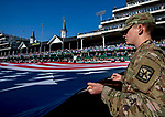 November 3, 2018 : Scenes from the Flag Ceremonies on Breeders Cup World Championships Saturday at Churchill Downs on November 3, 2018 in Louisville, Kentucky. Jamey Price/Eclipse Sportswire/CSM