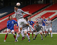 Anthony McParland fails to cut out the corner in the Queen's Park v Rangers Irn-Bru Scottish League Division Three match played at Hampden Park, Glasgow on 29.12.12.
