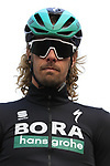 Daniel Oss (ITA) Bora-Hansgrohe on stage at sign on before the 2019 Gent-Wevelgem in Flanders Fields running 252km from Deinze to Wevelgem, Belgium. 31st March 2019.<br /> Picture: Eoin Clarke | Cyclefile<br /> <br /> All photos usage must carry mandatory copyright credit (© Cyclefile | Eoin Clarke)