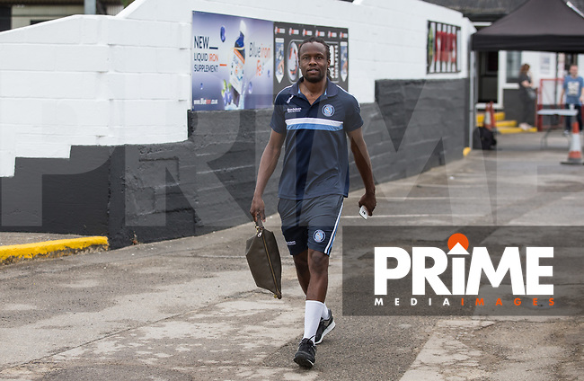 Marcus Bean of Wycombe Wanderers arrives pre match during the 2018/19 Pre Season Friendly match between Maidenhead United and Wycombe Wanderers at York Road, Maidenhead, England on 27 July 2018. Photo by Kevin Prescod.