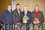 At Minister Jimmy Deenihan's book launch at the Ring of Kerry Hotel,  Cahersiveen on Friday night last were Kerry great's l-r; Ned Fitzgerald, Maurice Fitzgerald, Jimmy Deenihan & Mick O'Connell.