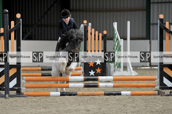 Class 1. 40cm. Unaffiliated showjumping. Brook Farm training centre. Stapleford Abbots. Essex. UK. 26/03/2017. MANDATORY Credit Garry Bowden/Sportinpictures - NO UNAUTHORISED USE - 07837 394578