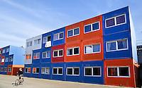 containerwoningen voor studenten in Amsterdam-Noord bij de NDSM Werf